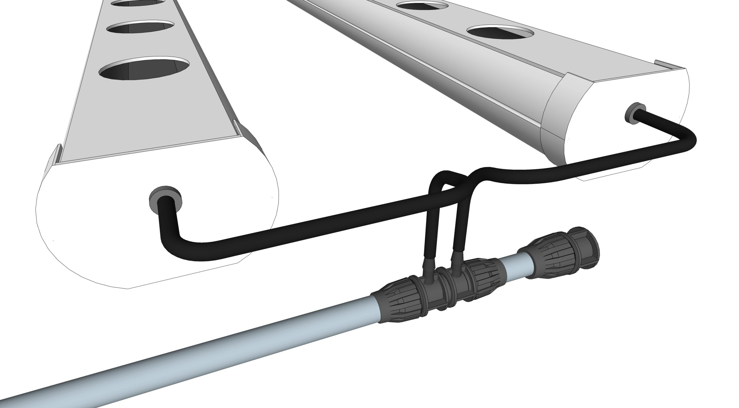Collegare il tappo RC-PGSMU12X6U2 al fondo della linea di distribuzione